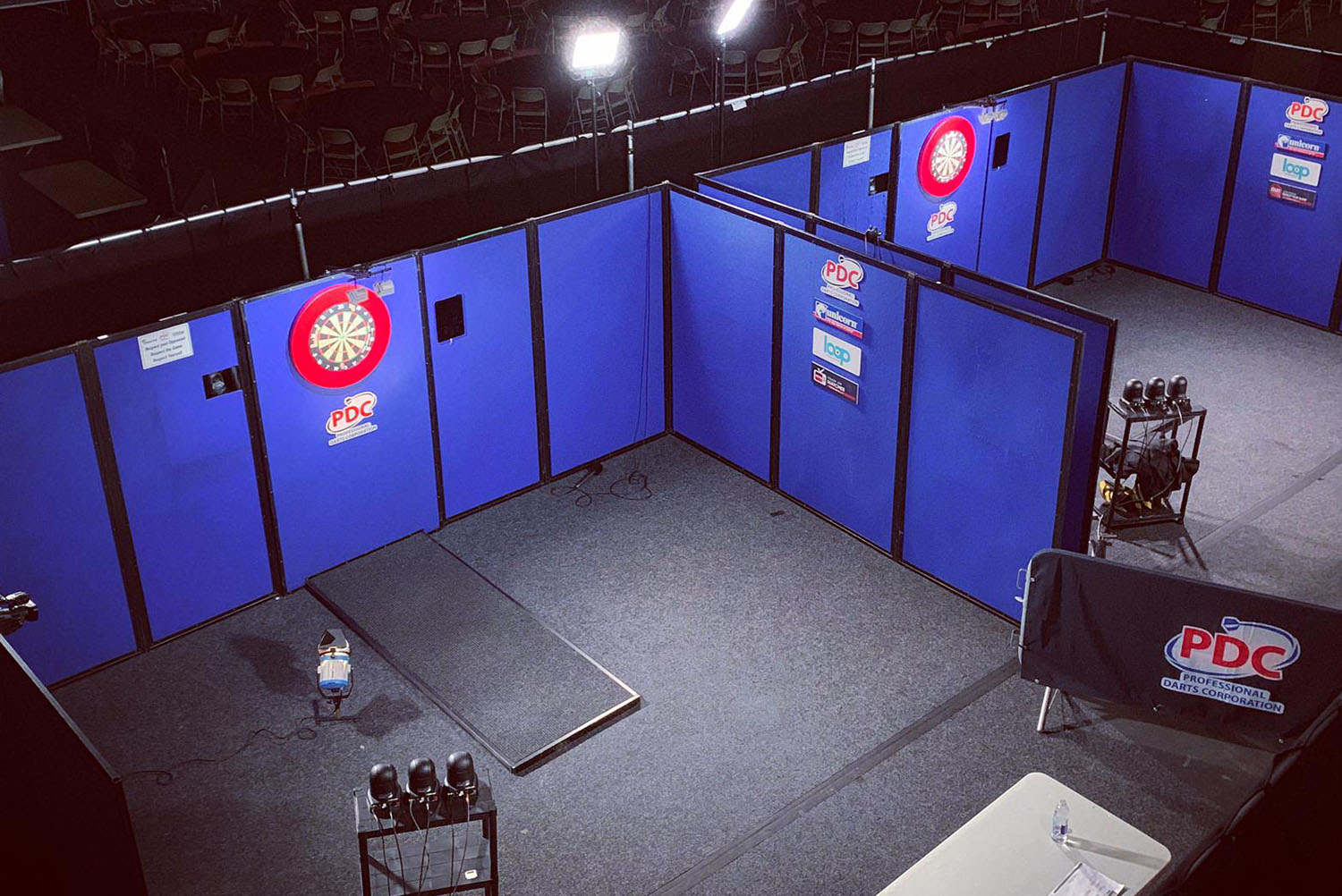 PDC Pro Tour streaming board rig
