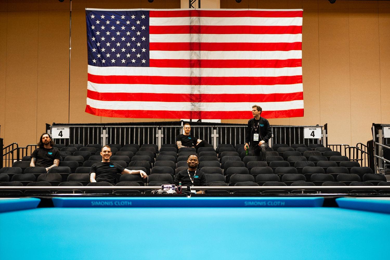 Loop staff at 9-Ball Pool Championships, Mandalay Bay, Las Vegas